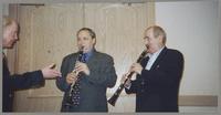 John Bunch, Ken Peplowski, and Kenny Davern [photograph, front]