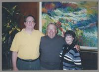 Donald Fillius, Bucky Pizzarelli, and Nelma Fillius [photograph, front]