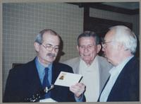 Kenny Davern, Jake Hanna, and unknown man [photograph, front]