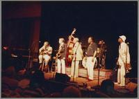 Jay McShann, Bucky Pizzarelli, Bob Wilber, Milt Hinton, Benny Carter, Harry Edison, and Al Grey [photograph, front]