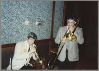 Randy Sandke and Dan Barrett [photograph, front]