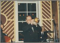 Bill Crow, Warren Vaché, and Bobby Rosengarden [photograph, front]