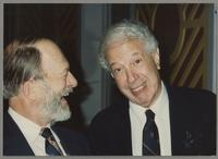 Bill Crow and Bobby Rosengarden [photograph, front]
