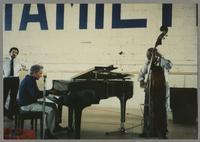 Unknown man, Joe Bushkin, and Milt Hinton [photograph, front]