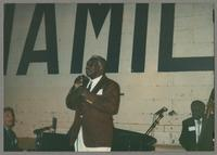 Joe Buskin, Joe Williams and Milt Hinton [photograph, front]