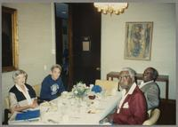 Jilliean Williams, Joe Bushkin, Joe Williams, and Milt Hinton [photograph, front]