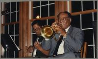 Mike Woods and Clark Terry [photograph, front]