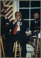 Clark Terry and Bobby Rosengarden [photograph, front]