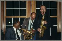 Clark Terry, Bob Cesari, and Monk Rowe [photograph, front]