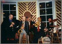 Kenny Davern, Tommy Newsom, Bob Haggart, Clark Terry, and Bobby Rosengarden [photograph, front]