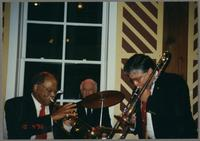 Clark Terry, Bobby Rosengarden, and Dan Barrett [photograph, front]