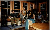 Mike Woods, Clark Terry, Bob Cesari, Monk Rowe, and David Gaynes [photograph, front]