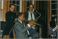 Monk Rowe, Clark Terry, Bob Cesari [photograph, front]