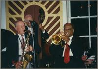 Tommy Newsom, Bob Haggart, and Clark Terry [photograph, front]