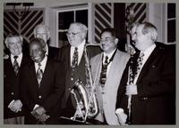Derek Smith, Joe Wilder, Bob Rosengarden, Milt Fillius Jr., Frank Wess, Michael Moore, and Kenny Davern [photograph, front]