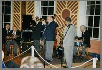 Dave McKenna, Bucky Pizzarelli, Kenny Davern, Warren Vaché, Frank Wess, and Bobby Rosengarden [photograph, front]