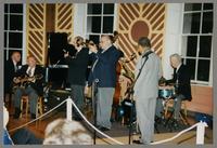 Dave McKenna, Bucky Pizzarelli, Kenny Davern, Warren Vaché, Frank Wess, and Bob Rosengarden [photograph, front]