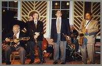 Bucky Pizzarelli, Michael Moore, Kenny Davern, Warren Vaché, Bobby Rosengarden, and Frank Wess [photograph, front]