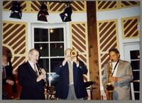 Michael Moore, Kenny Davern, Warren Vaché, and Frank Wess [photograph, front]
