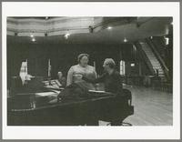 Unknown man, Kate Smith, and Skitch Henderson [photograph, front]