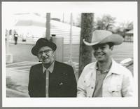 Jimmy Durante and Russ Tamblyn [photograph, front]