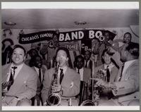 Bobby Plater, Jimmy Nottingham, Joe Wilder, Johnny Griffin, Al Hayse, Wendell Cully, Joe Morris, Booty Wood, Duke Garrette, and Charlie Fowlkes [photograph, front]