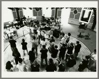 Monk Rowe conducting jazz band [photograph, front]