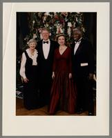 Jillean Williams, Gill Clinton, Hillary Clinton, and Joe Williams [photograph, front]