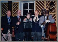 Bucky Pizarelli, Kenny Davern, Nelma Fillius, Tony DiNicola, and Keter Betts [photograph, front]