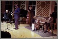 John Bunch, Houston Person, Jay Leonhart, and Joe Ascione [photograph, front]