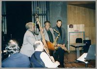 Rick Montalbano, Keter Betts, Carmen Caramanica, Houston Person, and Byron Stripling [photograph, front]