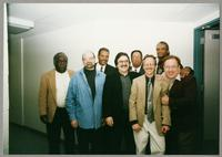 Keter Betts, Carmen Caramanica, Wendell Brunious, Rick Montalbano, Mike Woods, Monk Rowe, Robert Watson, and Duffy Jackson [photograph, front]