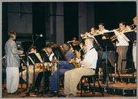 Monk Rowe and the Hamilton College Jazz Ensemble [photograph, front]