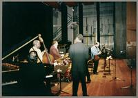 Rick Montalbano, Keter Betts, Duffy Jackson, Wendell Brunious, and Carmen Caramanica [photograph, front]