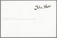 John Bunch and Houston Person [photograph, back]